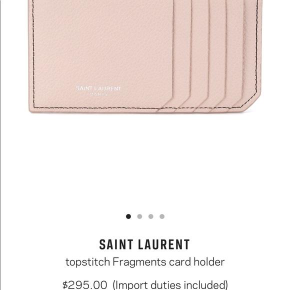 f77c0cbccef Yves Saint Laurent Bags | 295 Authentic Ysl Card Case | Poshmark